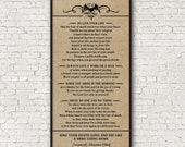 Poem by Tecumseh, American Shawnee Chief. 10 x 20 Kraft Look Print - Choose from 2 Looks - Different Colors Upon Request- Frame Not Included