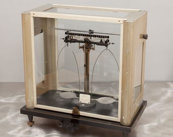 1950's ANALYTICAL BALANCE - Voland & Sons  - Vintage Laboratory Scale - Cool Steampunk Instrument