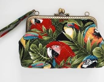 """7"""" Clutch Bag – Parrots"""