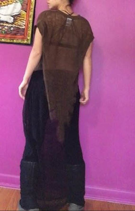 Shredded Bleached Black Dress ~ slowshine