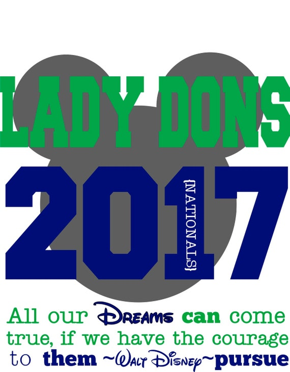 INSTANT DOWNLOAD Lady Dons Nationals