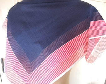 Vintage 1980s scarf Anne Klein for the Vera companies sheer cotton 25 x 25 inches