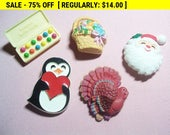 vintage Hallmark brooches lot, vintage pins for wear or craft, estate jewelry