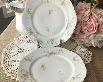 Set of 2 Haviland Limoges France Dinner Plates Schleiger 57A Ranson Blank 1 The Princess Pattern