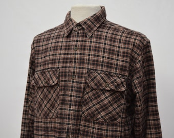 Autumnal Coloured Checkered Flannel Shirt