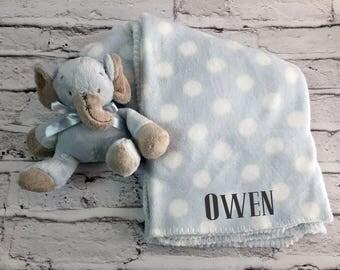 Baby Blanket Stuffed Animal Monogrammed Personalized Blanket Set