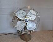 Eskimo Metal Fan ~ Small Vintage Fan ~ Blue Fan ~ Home Decor ~ Epsteam