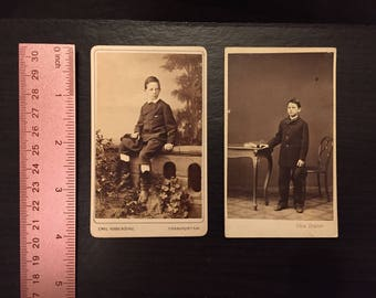Boys and Hats CDV lot of 2