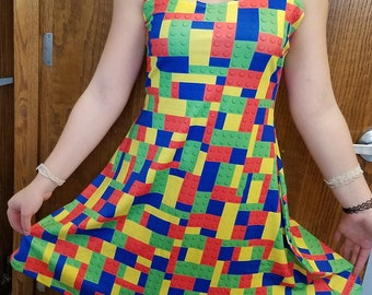 Building Blocks Lego-Inspired Dress