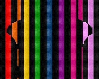 Needlepoint Kit or Canvas: Hamsa Illusion