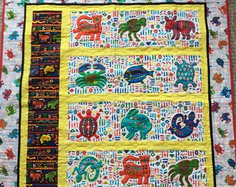 Mola Lap, Baby, or Wheelchair Quilt