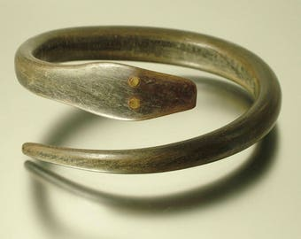 Antique/ estate Art Deco 1920s/ 1930s pressed rams horn serpent / snake costume bangle - jewelry