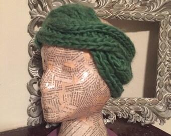 Green Twist Knit Headband