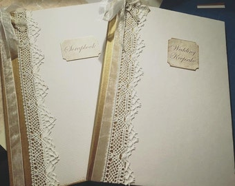A4 Ivory Wedding Keepsake Guest Book and scrapbook set