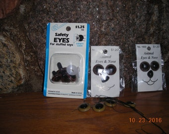 Bears eyes and Noses with safety locks.