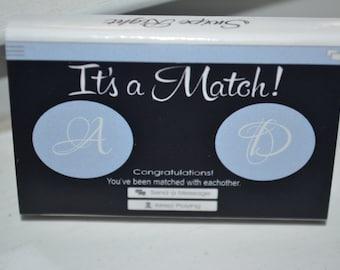 125 Custom Designed Matchbox Wedding Favors - It's a Match!
