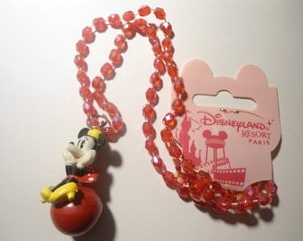 1 Disneyland Resort Paris Minnie Mouse Jingle Bell Necklace