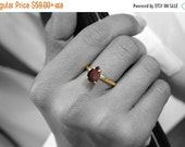 VALENTINES DAY SALE -  January birthstone ring,red garnet ring,semiprecious ring,cocktail ring,stack ring,gold ring,solid gold ring,engageme
