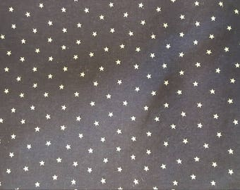 Deep Navy Blue Cotton with stars by Fabric Traditions