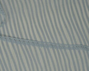 Slipsliding Blue Cotton Poplin Fabric from Clothworks