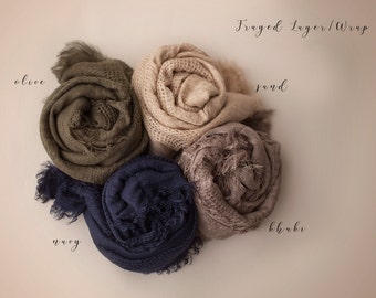 Newborn Baby Wrap, Soft Textured Wrap, Long Baby Wrap, Newborn Layering Fabric, RTS