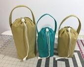 Three custom bags