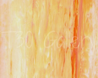 Digital Download - Relax, Pink and Orange Abstract Artwork