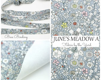 Liberty of London Tana Lawn Fabric JUNE'S MEADOW F // Liberty Bias Binding // Liberty of London Bias Tape