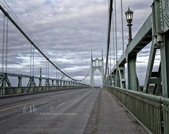 Digital Background Metal Bridge over River