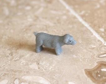 Mini animal - miniature plastic sheep - tiny plastic sheep - tiny gray sheep - lamb  - miniature farm animal - tiny farm animal