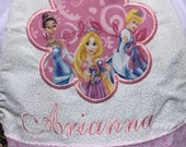 Princess personalized apron, Embroidered, Appliqued, Monogrammed
