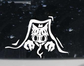 Dragon Peeking out Car Decal, Animal Lover Gift, Dragon Lover, Mythical Dragon Art, Dragon Decor, Bumper Sticker