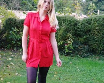 Vintage 80 red mini Dress