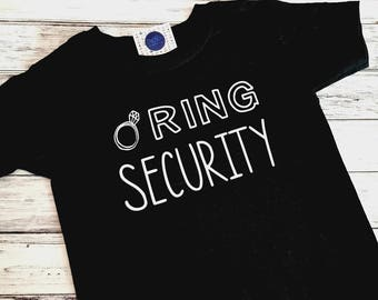 Ring Security Shirt - Ring Bearer Top - Wedding Tee - Boy Rehearsal Dinner - Ring Bearer Gift - Ring Bearer Proposal - Wedding Rings