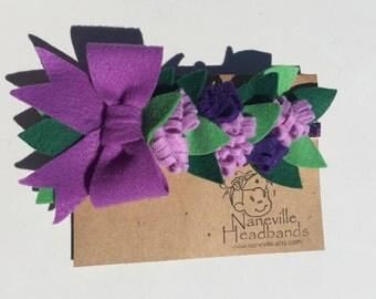 Lavender blossoms felt headband