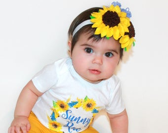 Sunflower lavander, Multi color felt flowers headband