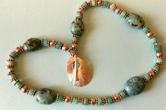 PERSIAN TREASURE   Turquoise and silver necklace