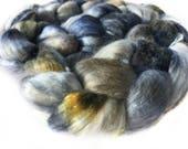 Superfine Merino Wool And Mulberry Silk 50/50 Blend Brick Form Destash Hand Dyed Spinning Felting Fiber 70 gm 2,45 oz