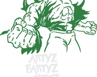Hulk ***Digital Item Only*** Clipart digital download svg, png, dxf, eps, pdf