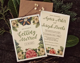 Botanical Floral Wedding Invitation