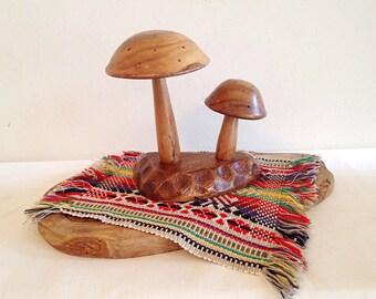 Funky Wood Mushroom Statue