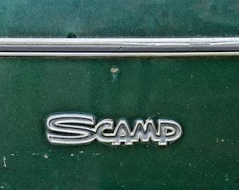 Plymouth Scamp Hot Rod Hotrod Automobile Mopar Transportation Green Logo Emblem Classic Vintage Auto Car Fine Art Photo Print