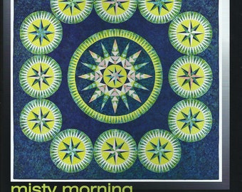 Misty Morning Paper Pieced Quilt Pattern Be Colourful Jacqueline de Jonge DIY Quilting Foundation Piecing