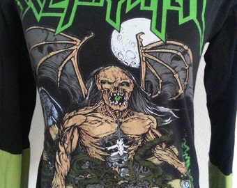 Skeletonwitch ladies band shirt 3/4 sleeve fitted top heavy metal size m