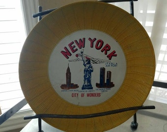 New York, City of Wonders, World Trade Center, plate, tray, Made in Japan