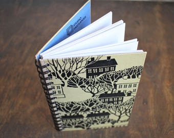 """Spiral Journal Tartuensis College """"Small Town"""", from Old Book Covers"""