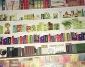 SAMPLE: 6 Designs of Books Theme Limited Edition Washi Tape (1m each)