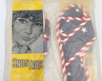 American Flag Cross Slides Slippers Women's 5-6