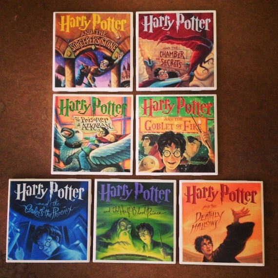 Harry Potter Book Covers Coasters