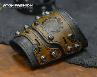 Adeptus mechanicus leather bracer based on Warhammer 40000